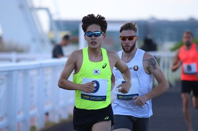 Silver medallist Jun Woongtae controls his pace during the men's individual Laser-Run discipline of the UIPM 2018 Pentathlon World Cup Final in Astana, Kazakhstan (PRNewsfoto/UIPM)