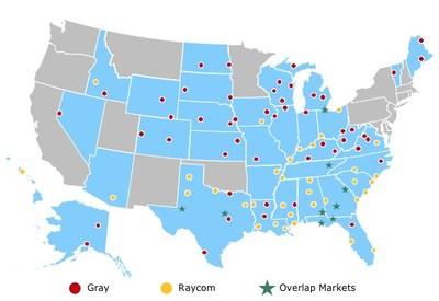Combined Television Markets (PRNewsfoto/Gray Television, Inc.)