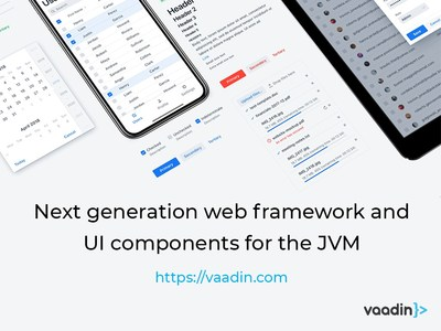 Vaadin 10 – Next generation web framework and UI components for the JVM