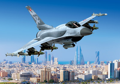 Artist's rendition of the F-16 Block 70 that will be built for the Kingdom of Bahrain at Lockheed Martin's facility in Greenville, South Carolina.