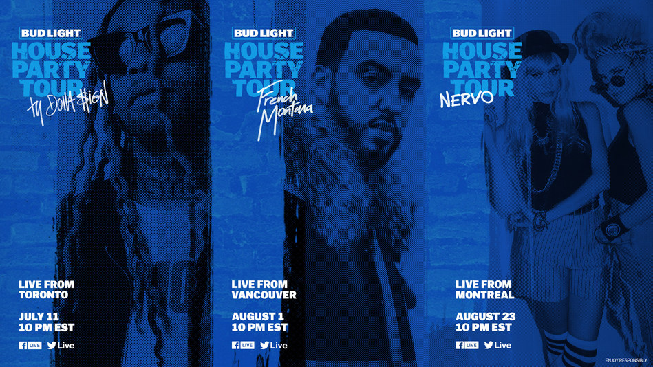 Ty Dolla $ign, French Montana and Nervo to perform in House Parties Across Canada on the Bud Light House Party Tour (CNW Group/Bud Light Canada)