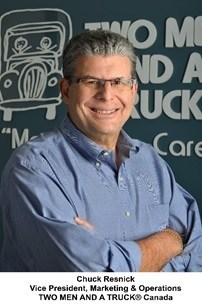 Chuck Resnick, Vice President, Marketing & Operations, TWO MEN AND A TRUCK® Canada (CNW Group/Two Men and a Truck)