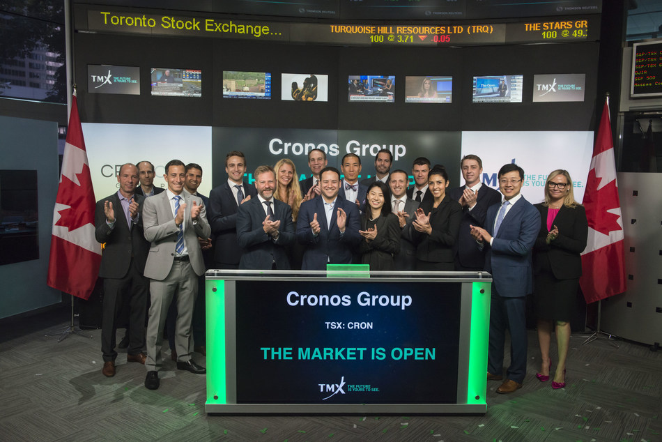 Cronos Group Inc. Opens the Market (CNW Group/TMX Group Limited)