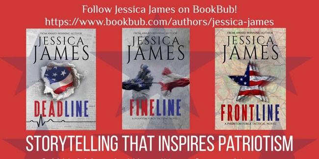 Military Suspense Author Jessica James' award-winning Phantom Force Tactical series.