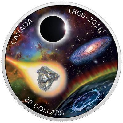 2018 $20 Fine Silver Coin - 150th Anniversary of the Royal Astronomical Society of Canada (CNW Group/Royal Canadian Mint)
