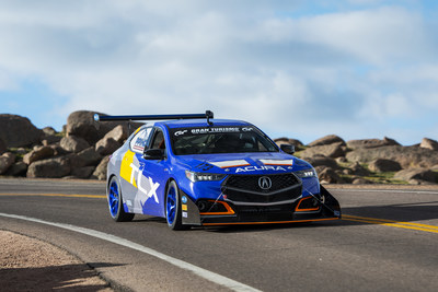Acura TLX A-Spec Sets New Front-Wheel Drive Record at 2018 Pikes Peak International Hill Climb
