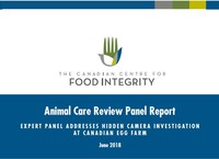 Animal Care Review Panel Addresses Hidden Camera Investigation at Canadian Egg Farm (CNW Group/Canadian Centre for Food Integrity)