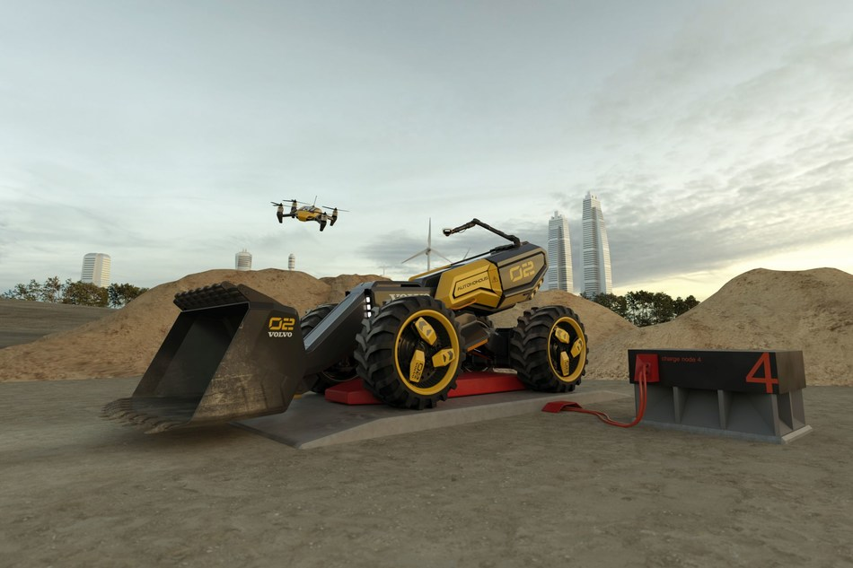Volvo Construction Equipment and LEGO® Technic Team Up with Children to Create an Autonomous Concept Wheel Loader of the Future (PRNewsfoto/Volvo CE and LEGO® Technic)