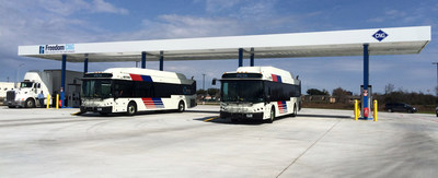Freedom CNG Metro Station – Houston, Texas. Freedom CNG currently operates and supplies four stations with a NEW station at Greenshadow Dr and Texas 8 Beltway opening soon.