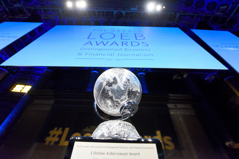 Lifetime Achievement Award  at the 2018 Gerald Loeb Awards Ceremony on June 25, 2018