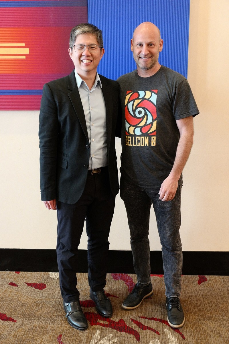 L to R: Mr Johnson Chen, founder and CEO of CapBridge; Mr Joseph Lubin, co-founder of Ethereum and founder of ConsenSys