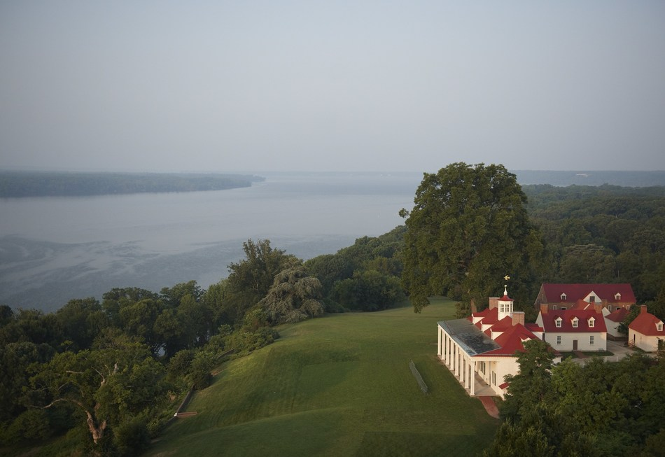 George Washington's view from Mount Vernon, preserved for centuries, is now threatened by the development of a gas compressor station across the Potomac River.