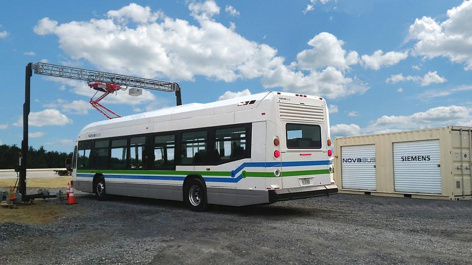 First electric bus to pass the new FTA Pass/Fail standard in Altoona: The Nova Bus LFSe (CNW Group/NOVA BUS)