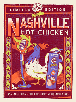 Nashville is to thank for of one of America's most popular and spicy culinary dishes: Hot Chicken. And now for the first-time ever, Pringles® is bringing Nashville to the rest of America with the launch of Pringles Nashville Hot Chicken Flavor.