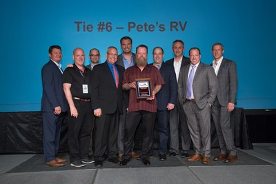 The Annual Dealers Conference was held at the Tropicana in Las Vegas, Nevada. Therein Airstream took the time to recognize their outstanding dealers across the nation. (PRNewsfoto/Airstream of Vermont)