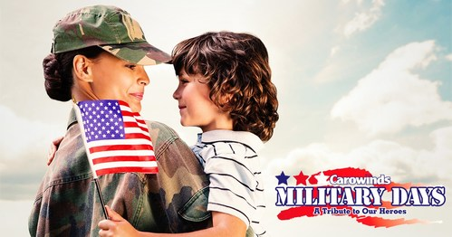 Carowinds is offering free admission to active, inactive or retired members of the United States military June 30-July 8, 2018.