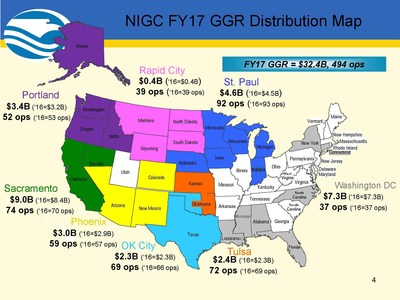 NIGC FY17 GGR Distribution Map