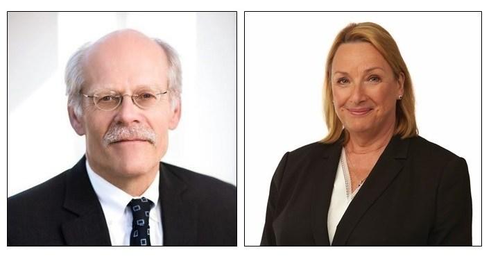 Stefan Ingves, Chair, Board of Directors; Maureen Jensen, Vice-Chair, Board of Directors. (CNW Group/Toronto Centre)
