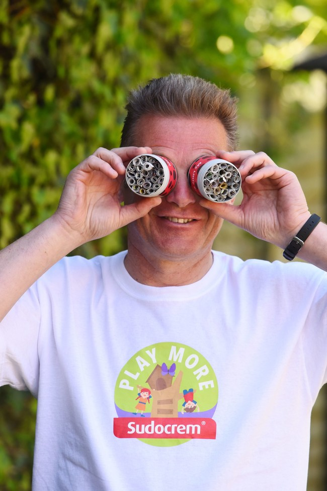 Chis Packham and Sudocrem Bug Hotels