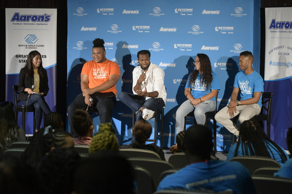 "More than 2,000 teen leaders from around the world gathered in Atlanta this past weekend for Boys & Girls Clubs of America's 51st Keystone Conference presented by Aaron's, Inc., a leading omnichannel provider of lease-purchase solutions. On Friday, 100 teens participated in the ""United We Stand"" panel with Washington Redskins cornerback Josh Norman and discussed social issues teens are facing in their local communities such as breaking-down stereotypes, LGBTQ equality, race and ethnicity."
