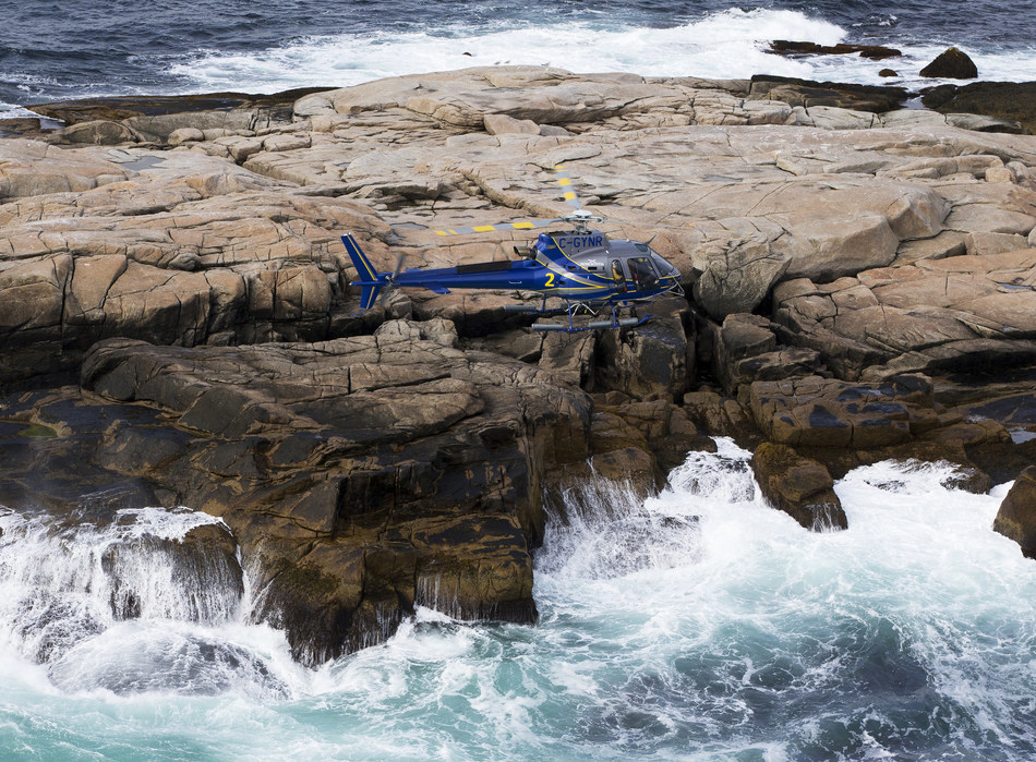 Airbus delivers four H125 helicopters to Nova Scotia Department of Natural Resources (NSDNR). The aircraft will increase service capacity for NSDNR missions including search and rescue, forestry programs, wildlife and geological surveys and firefighting. Photo Credit: Communications Nova Scotia (CNW Group/Airbus)