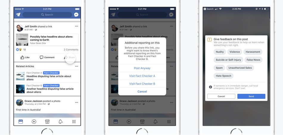 Facebook Canada launches third-party fact-checking program, which will provide Canadians with more context on the stories they see on Facebook and inform them if a story they shared has been rated as false. (CNW Group/Facebook Canada)
