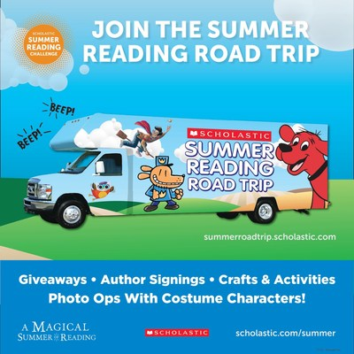 FREE POP-UP FAMILY READING FESTIVALS ARE COMING TO 27 U. S. CITIES AS PART OF THE 2018 SCHOLASTIC SUMMER READING ROAD TRIP
