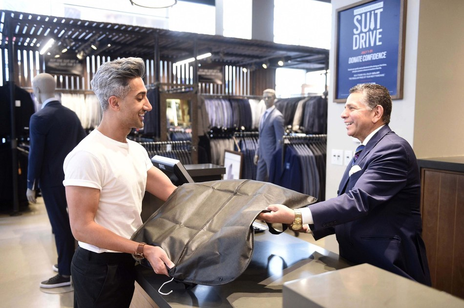 Style expert Tan France partners with Men's Wearhouse for 11th Annual Suit Drive benefiting Americans transitioning back into the workforce.