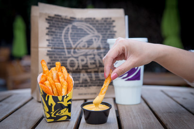 Nacho Fries will be available for a limited time a la carte for $1.29 and also served Supreme for $2.49 or BellGrande for $3.49, topped with classic Taco Bell add-ons including beef, nacho cheese sauce, tomatoes and sour cream and also in a $5 box with Nacho Fries, a Doritos® Locos Taco, a Beefy 5-Layer Burrito and Medium Drink.