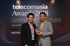 Mr. Paul Lai, Vice President of HGC, North & South East Asia, International Business (on the right), received the Best International Wholesale Carrier honour in Telecom Asia Awards 2018 (PRNewsfoto/HGC Global Communications Ltd.)