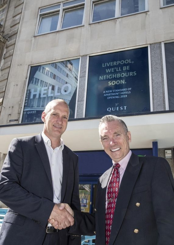 Andrew Weisz, Director of UK Development at Quest, and Cllr. Gary Millar were on site to mark the occasion (PRNewsfoto/Quest Apartments Hotels)