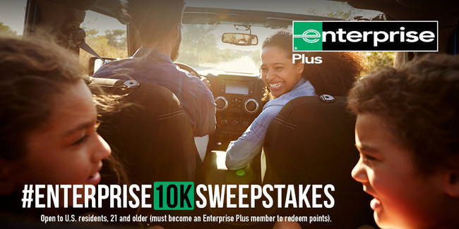 The world's largest car rental provider is celebrating its 10,000th location by giving 10,000 Enterprise Plus Points apiece to 10 winners.