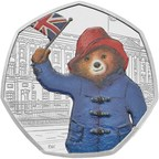 The Royal Mint has revealed two new limited edition Paddington Bear coins to celebrate the 60th anniversary of Paddington Bear's first adventure in A Bear Called Paddington (PRNewsfoto/The Royal Mint)