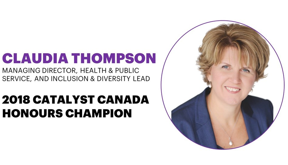 Accenture's Claudia Thompson Named a 2018 Catalyst Canada Honours Champion (CNW Group/Accenture)