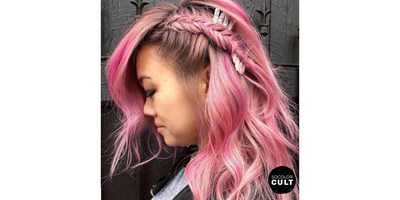 Cotton Candy Pink Hair Color Credit: @saripaints