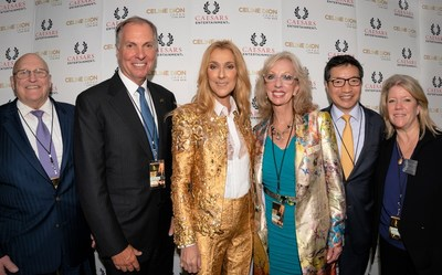 The Honorable Richard L. Armitage, former U.S. Deputy Secretary of State and President of Armitage International, Caesars Entertainment executives and Kara Bue, Armitage International founding partner and member of Caesars' Japan Advisory Committee, together with Celine Dion prior to her performance at Tokyo Dome.