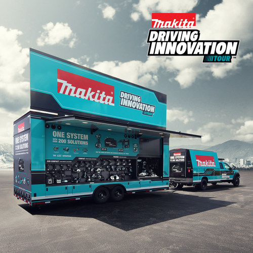 Makita is hitting the road with the Driving Innovation Tour, a new fleet of custom vehicles traveling across America and bringing tool users an interactive tool demonstration on wheels.