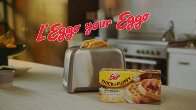 "Eggo® invites waffle lovers across America to ""L'Eggo Your Eggo"" with new campaign and Thick & Fluffy Waffles."