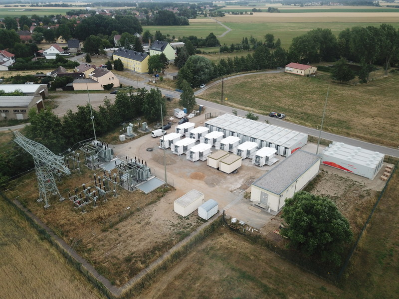 The landing site of the German energy storage project