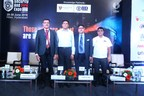 ( L _ R ) : Mr. Yogesh Mudras, Managing Director, UBM India ; Sri T.V. Sashidhar Reddy, IPS, Addl. Director, RBVRR (Telangana State Police Academy); Mr. Pankaj Jain, Group Director, UBM India and Mr. R Nanda Kumar, President, Electronic Security Association of India at the inauguration of Security and Fire Expo - South India 2018 at Hitex in Hyderabad today (PRNewsfoto/UBM India Pvt. Ltd.)