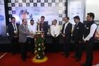 ( L-R ) Sr C. Laxmi Prasadh, Addl. Director, Telangana State Disaster Response & Fire Services, Hyderabad; Sr. S.P, Garg, Executive Director – Corporate HSE, Gas Authority of India Ltd.; Sr M. Vijay Kumar, Director of Boilers, Govt of Telangana; Mr. Yogesh Mudras, Managing Director, UBM India; Chief Guest -- Sri B. R. V. Susheel Kumar, IAS, Director of Mines and Geology, Government of Telangana; Mr. Hemant Sapra, President, Safety Appliances Manufacturers Association ( SAMA ); Mr. Pankaj Jain, Group Director, UBM India and Mr. Prashant Jain, UBM India at the inauguration of OSH South India 2018 in Hyd (PRNewsfoto/UBM India Pvt. Ltd.)