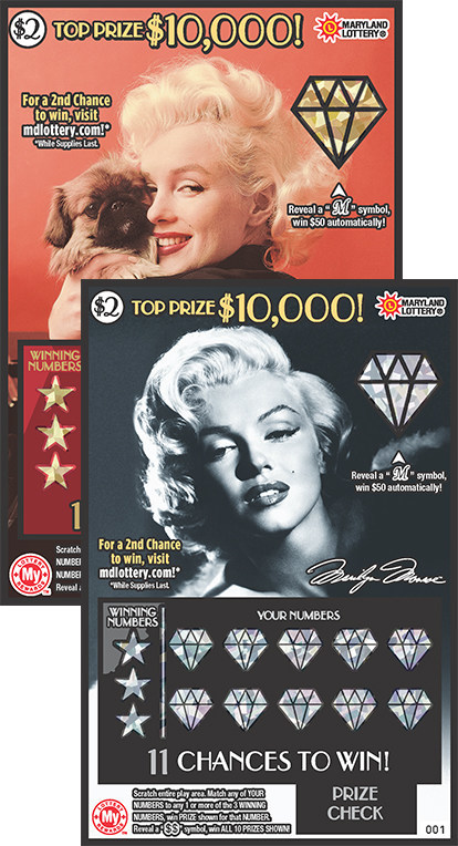 The Maryland Lottery's Marilyn Monroe™ instant ticket (CNW Group/Pollard Banknote Limited)