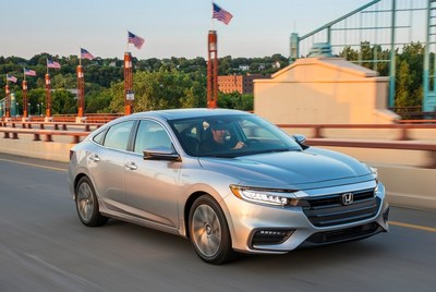 The sharply styled, tech-savvy and highly fuel efficient 2019 Honda Insight goes on-sale at dealerships today. (PRNewsFoto/American Honda Motor Co., Inc.)