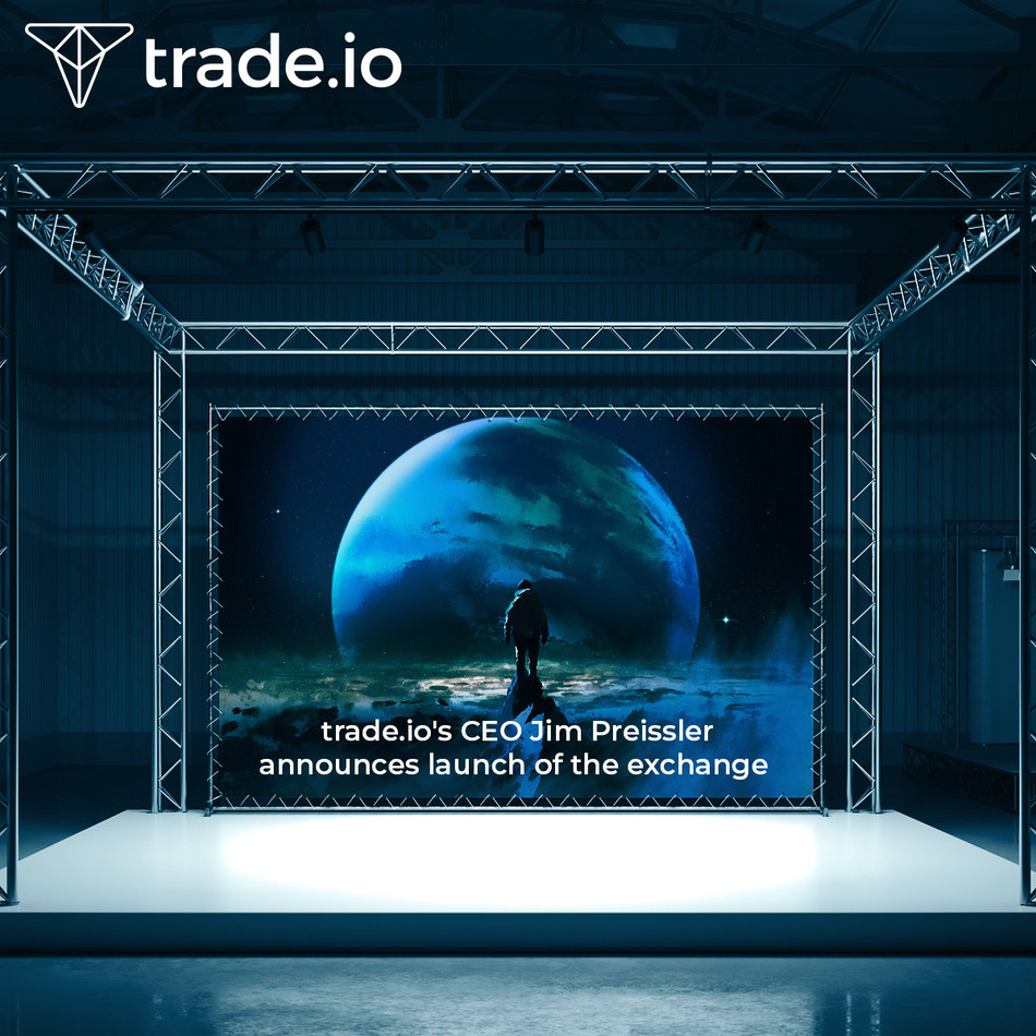 trade.io marks announcement of official launch date of cryptocurrency exchange with simultaneous London events (PRNewsfoto/trade.io)