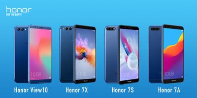 Quatro Smartphones da Honor lançados na América Latina (PRNewsfoto/Honor)