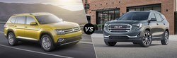 A comparison of the 2018 VW Atlas versus the 2018 GMC Terrain reveals some interesting results. The Atlas makes more power and has more passenger space than the GMC Terrain.