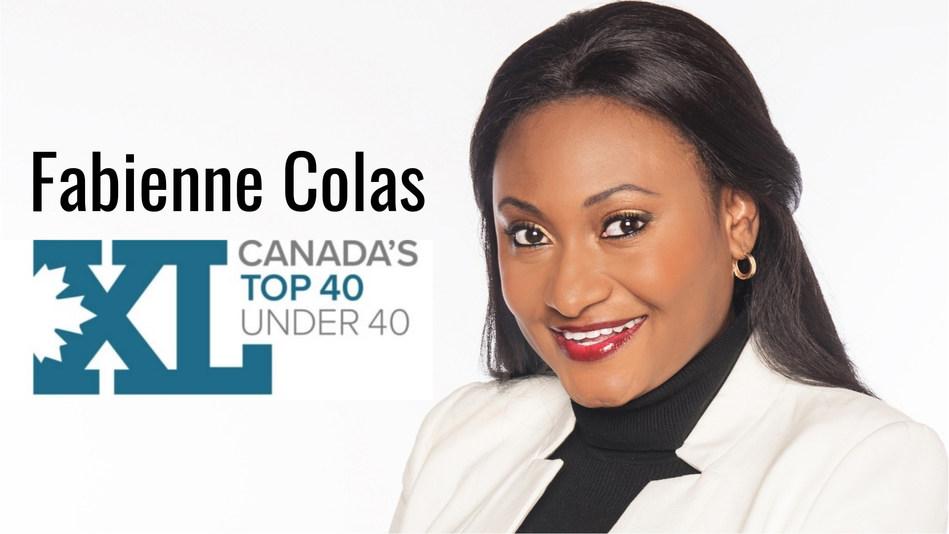 Fabienne Colas receives 2018 Canada's Top 40 Under 40 Award (CNW Group/Fondation Fabienne Colas)