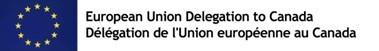Logo: EU delegation (CNW Group/Canadian Association of Journalists)
