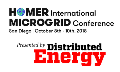 HOMER International Microgrid Conference presented by Distributed Energy