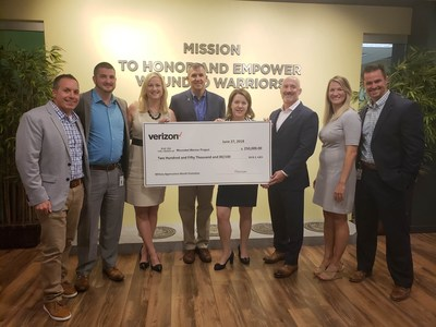 To support the growing needs of wounded veterans across America, Verizon presented Wounded Warrior Project (WWP) with a $250,000 check. This generous donation is the result of a month-long campaign, which ran during Military Appreciation month.